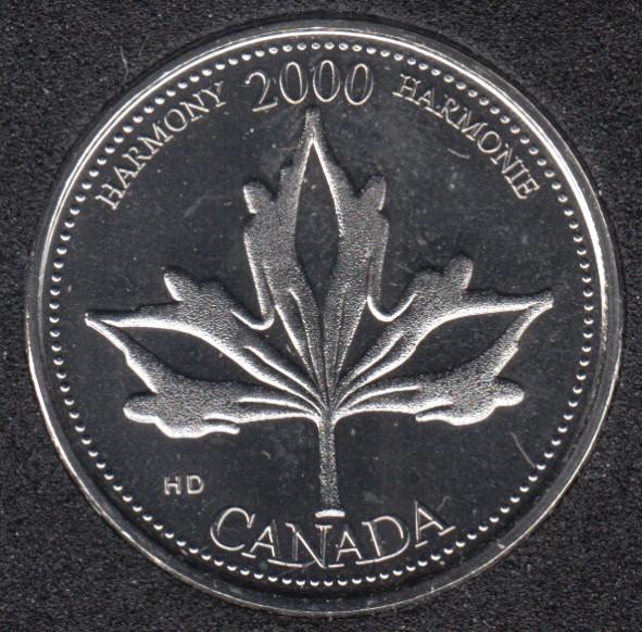 2000 - #6 NBU - Harmony - Canada 25 Cents