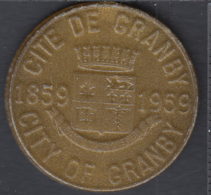 Granby - 1959 - 1859 - Centenaire de Granby - 25¢ Dollar de Commerce