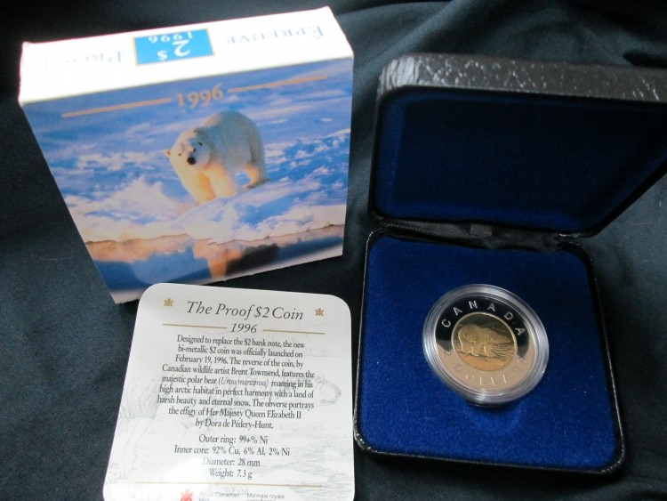 1996 -  $2 The Proof Coin