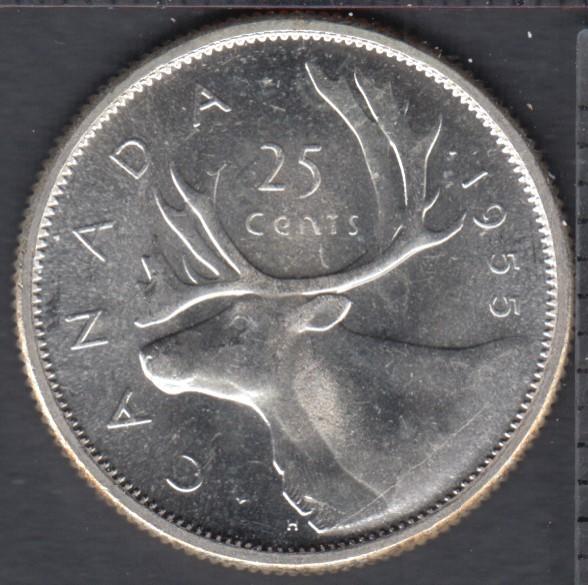 1955 - B.Unc - Canada 25 Cents