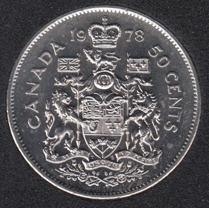 1978 - B.Unc - Square Jewels - Canada 50 Cents