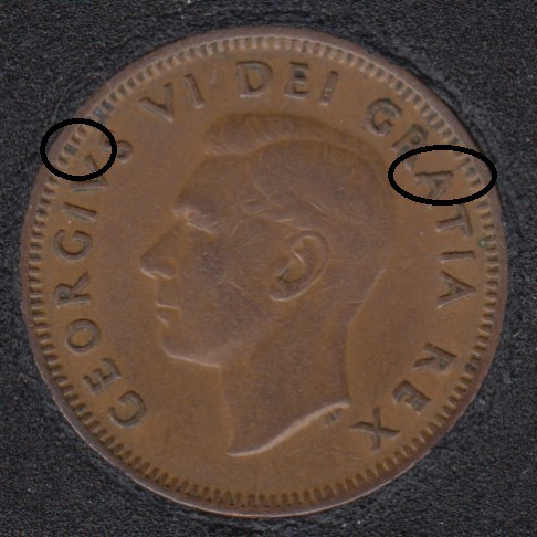 1950 - Break A V to Rim - Canada Cent