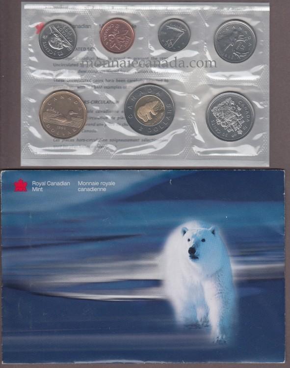 1999 ensemble hors circulation ours polaire monnaie canada. Black Bedroom Furniture Sets. Home Design Ideas