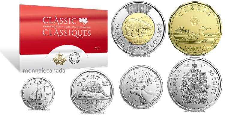 2017 - Classic Canadian Coin Set - Proof Like Set