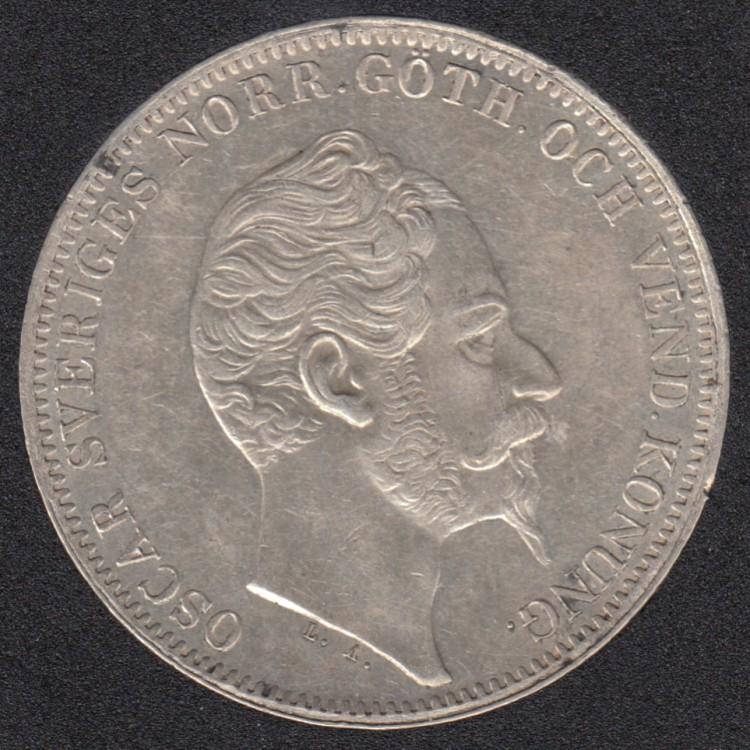 1857 ST - EF - Riksdaler Specie (4 Riksdaler Riksmynt) - Suede