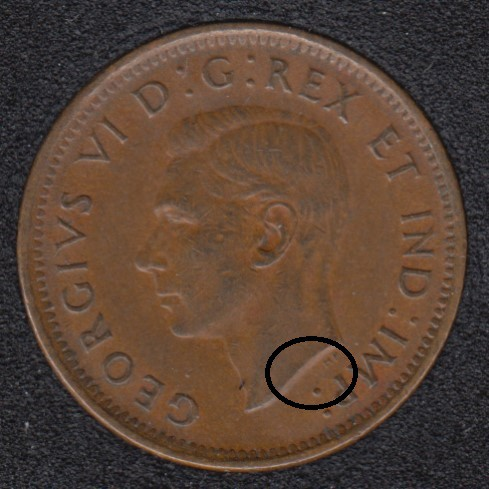 1941 - Break Bust to P - Canada Cent