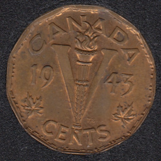 1943 - Tombac - B.Unc - Canada 5 Cents