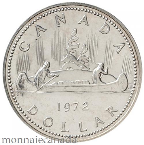 1972 DOLLAR EN ARGENT SPECIMEN - Voyageur