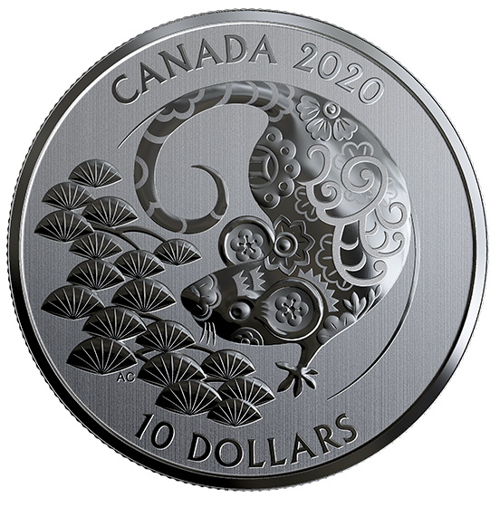 2020 - $10 -   1/2 oz. Pure Silver Coin - Year of the Rat