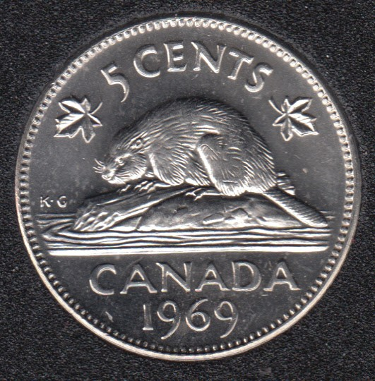 1969 - B.Unc - Canada 5 Cents