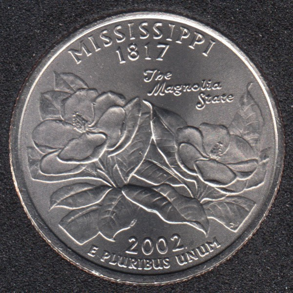 2002 P - Mississippi - 25 Cents