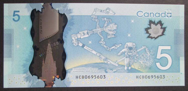2013 $5 Dollars UNC - Macklem Poloz - Prefix HCB