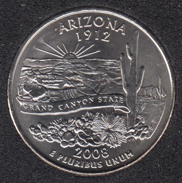 2008 P - Arizona - 25 Cents