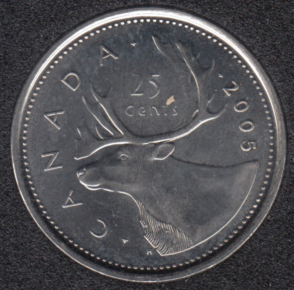 2005 P - B.Unc - Canada 25 Cents