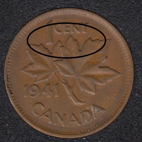 1941 - Break CENT - Canada Cent