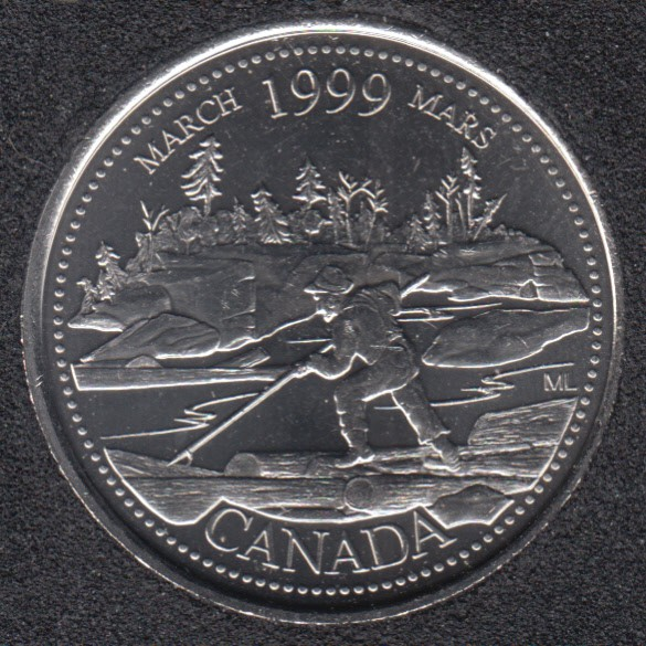 1999 - #3 B.Unc - March - Canada 25 Cents