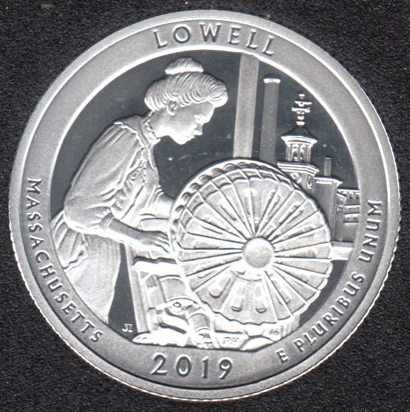 2019 S - Proof - Lowell - Argent Fin - 25 Cents