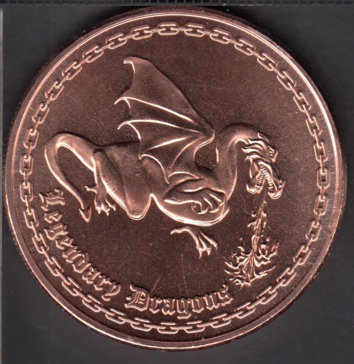 Dragon- 1 oz .999 Cuivre fin