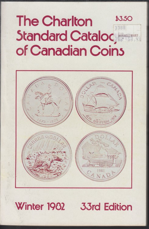 1982 - Charlton - Standard Catalogue of Canadian Coins Winter - Use