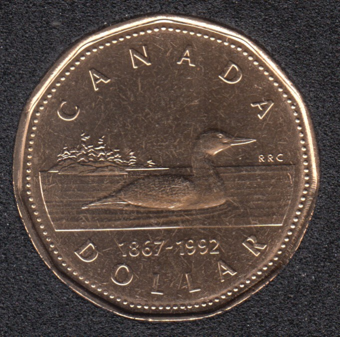 1992 - 1867 - B.Unc - Canada Huard Dollar
