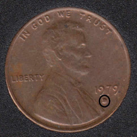 1979 D - Filled D- Lincoln Small Cent