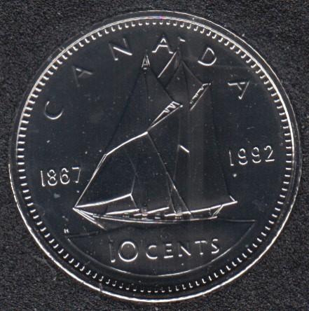 1992 - 1867 - NBU - Canada 10 Cents