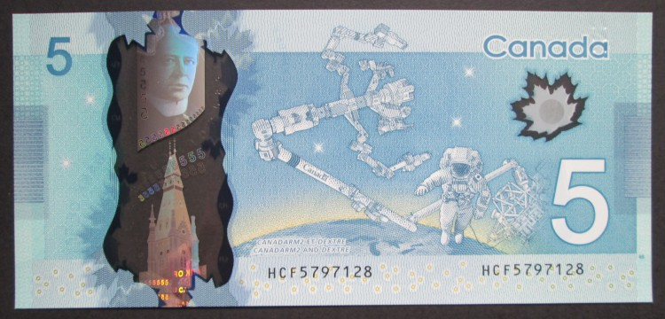 2013 $5 Dollars UNC - Macklem Poloz - Prefix HCF