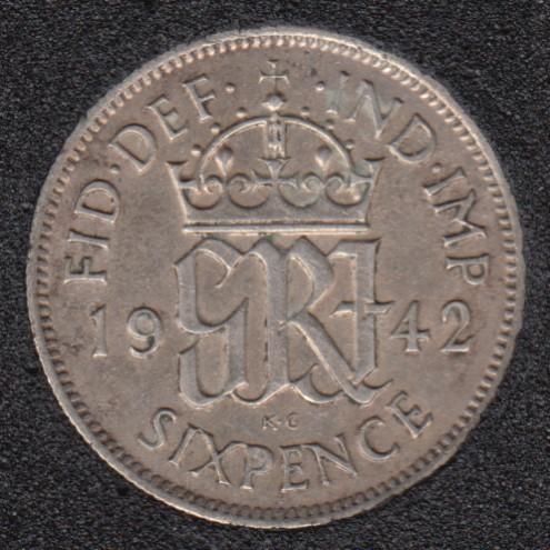 1942 - 6 Pence - Grande Bretagne