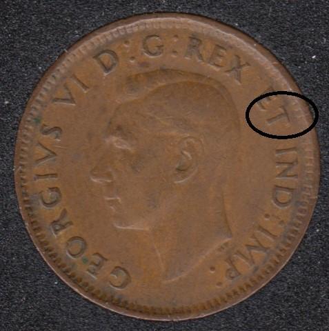 1944 - Break T to Rim - Canada Cent