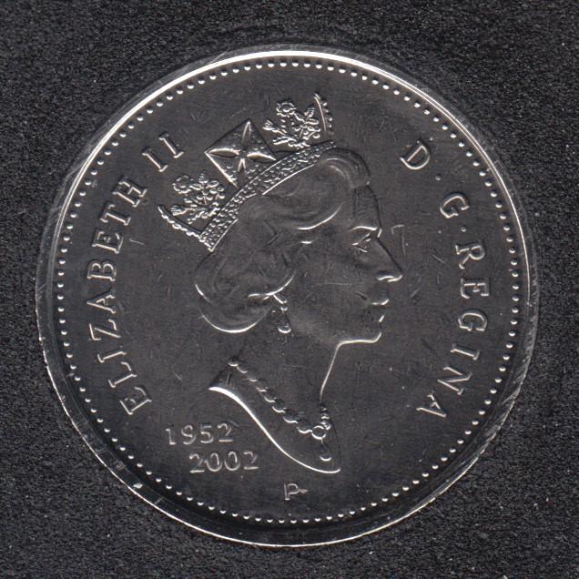 2002 - 1952 P - NBU - Canada 25 Cents