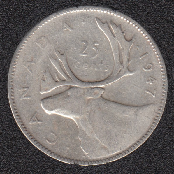 1947 - Canada 25 Cents