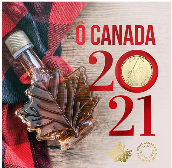 2021 - O Canada 5-Coin Gift Card Set