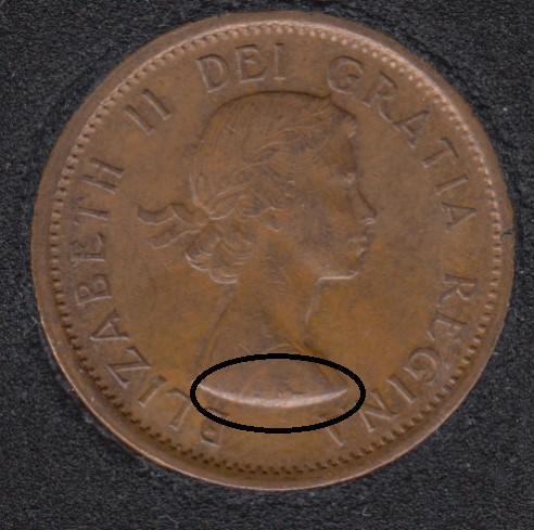 1959 - Break on Bust - Canada Cent