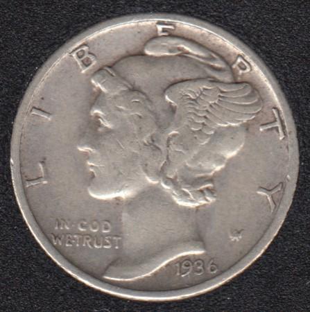 1936 - Mercury - 10 Cents