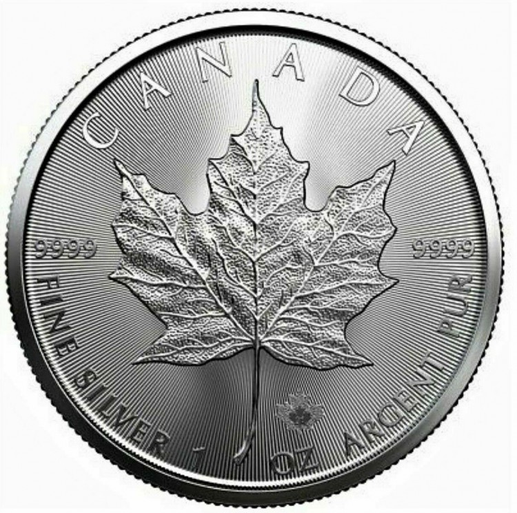 2021 - 1 oz Canada Maple Leaf Fine Silver - No Tax
