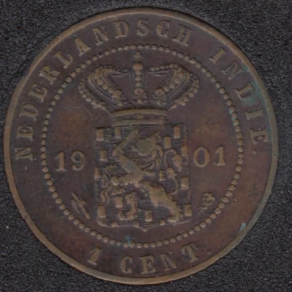 1901 - 1 Cent - Netherlands - East-Indies - Kingdom of Netherlands