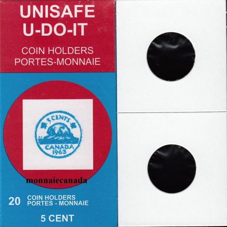 Paquet de 20 Flipettes de carton 2X2 pour les 5 cents