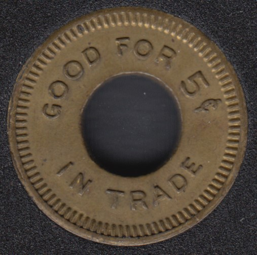 Good For 5¢ in Trade - W.M.C. Made in Canada - Token