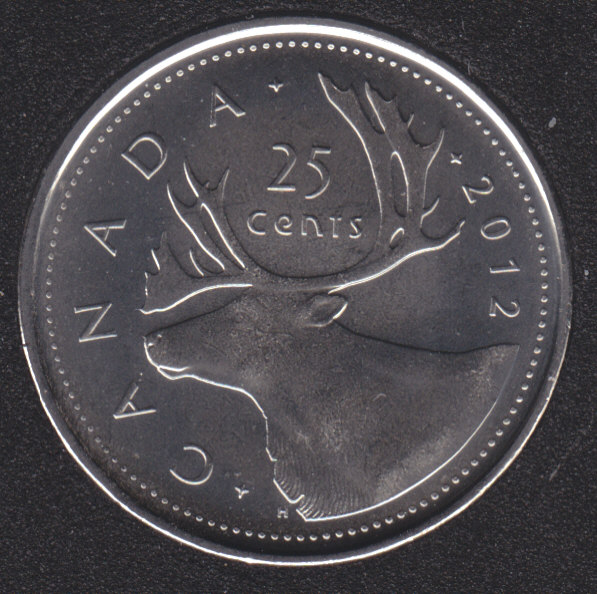2012 - B.Unc - Canada 25 Cents