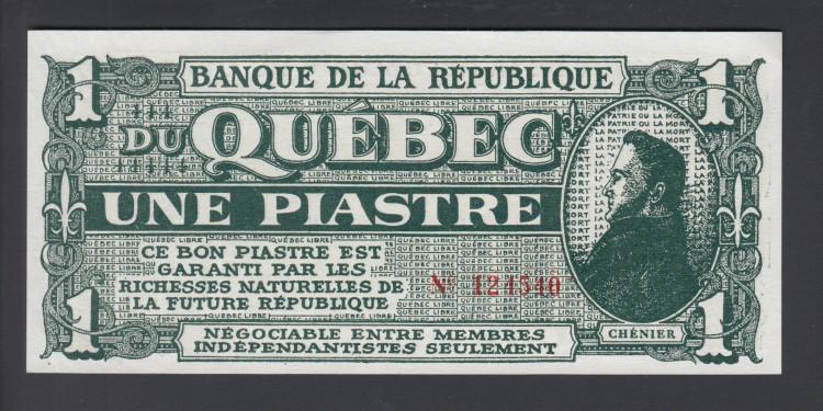 Chénier - Banque de la République - Une Piastre - UNC - Not-Négotiable