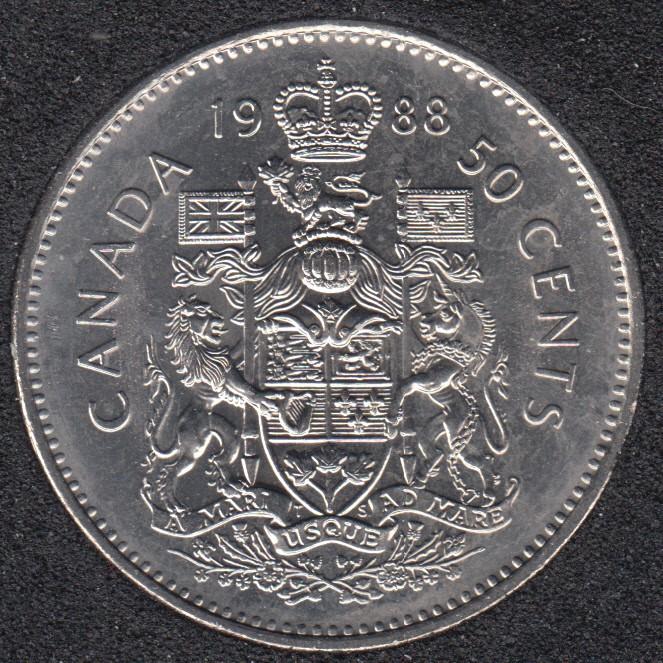 1988 - B.Unc - Canada 50 Cents