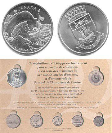1608-2008 - CANADA - 400E COLLECTION CARD OF QUEBEC