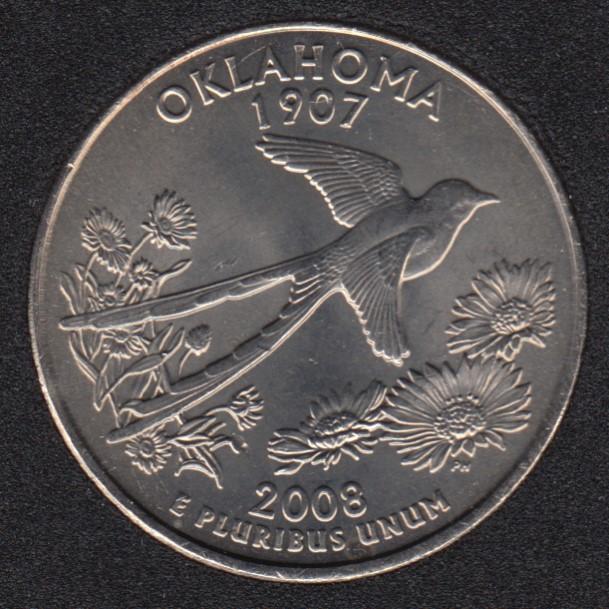 2008 P - Oklahoma - 25 Cents