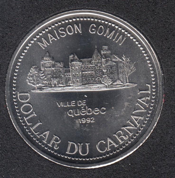 Quebec - 1992 Carnival of Quebec - Pal. 1971 / Maison Gomin - $2 Trade Dollar