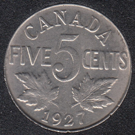 1927 - VF - Canada 5 Cents