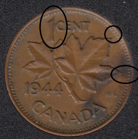 1944 - Break Head to X to Rim - ML to 1 to Rim - ML to Rim - Canada Cent