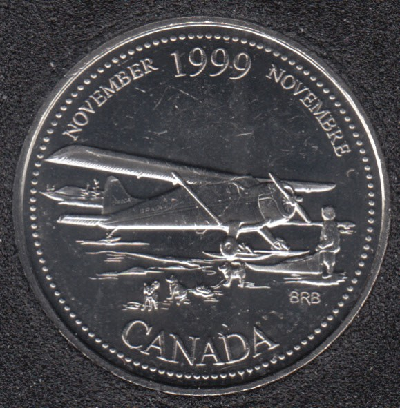 1999 - #911 B.Unc - November - Canada 25 Cents