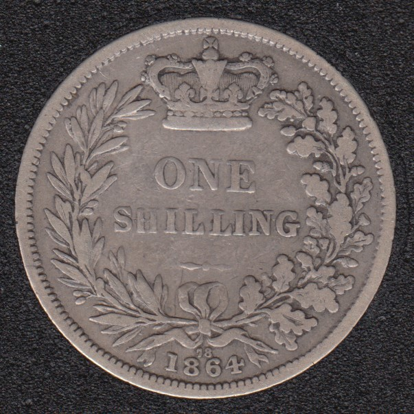1864 - Shilling - Great Britain