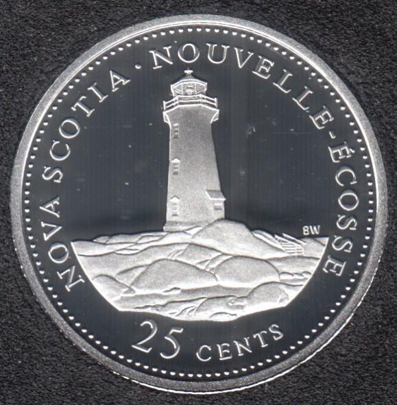 1992 - #9 Proof - Silver - Nova Scotia - Canada 25 Cents