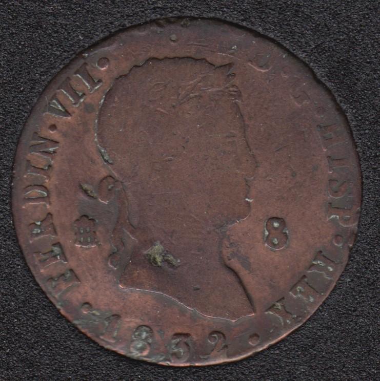1832 - 8 Maravedis - Spain